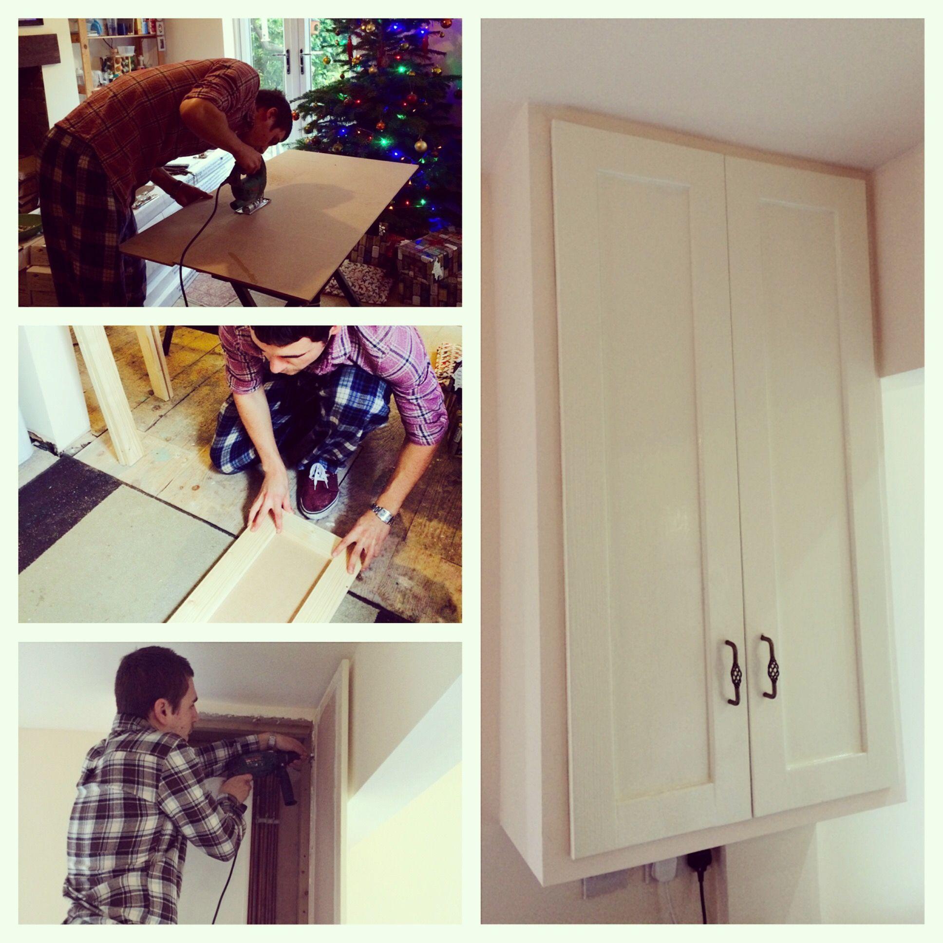 Home made boiler cupboard doors | home | Pinterest