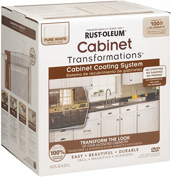 Rust Oleum 263232 Cabinet Transformations Small Kit Pure White House Paint Amazon Com In 2020 Rustoleum Cabinet Refinishing Kit Painting Kitchen Cabinets