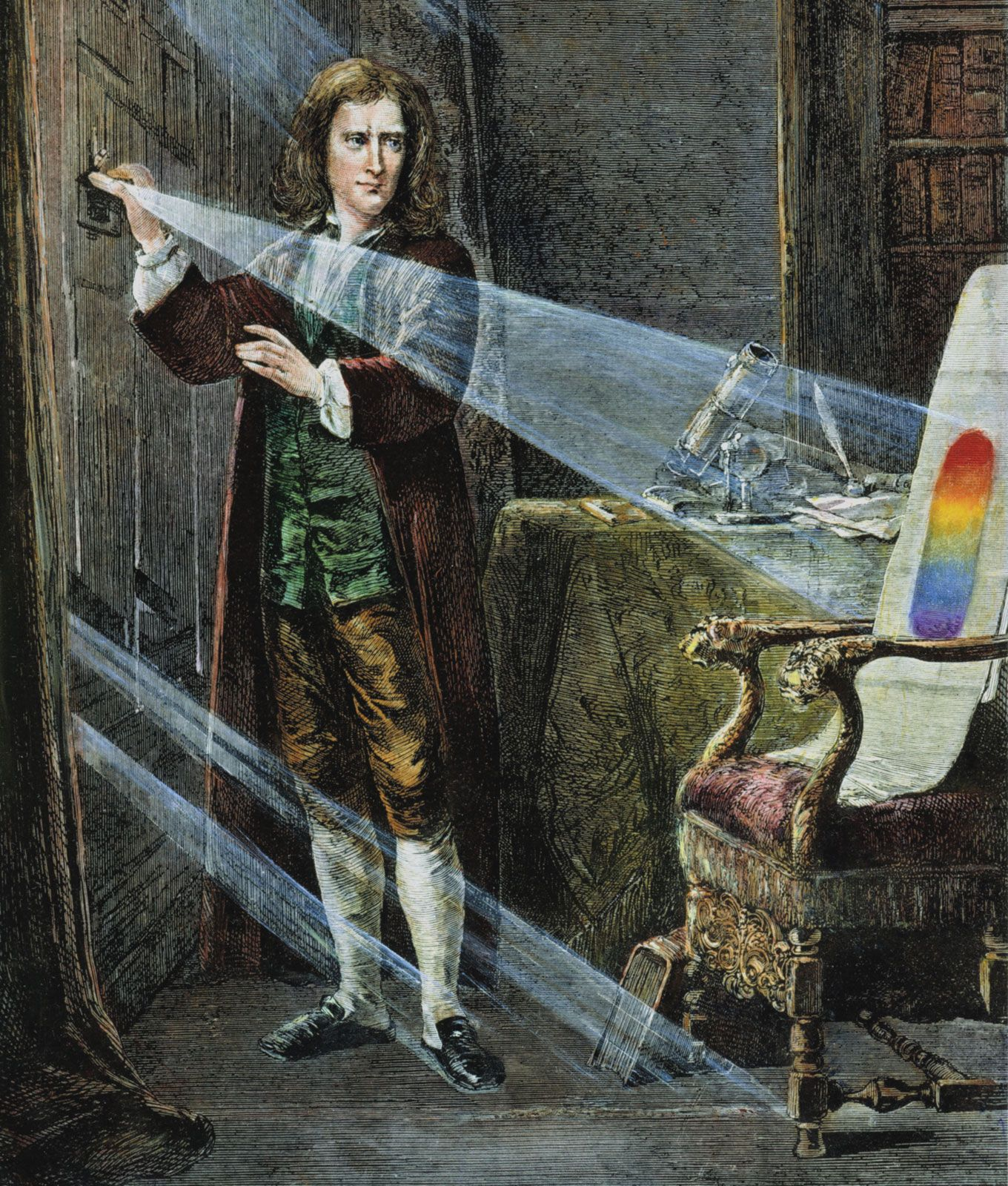 sir isaac newton 1642 1727 invented the reflecting telescope in sir isaac newton 1642 1727 invented the reflecting telescope in 1668 he was a physicist mathematician astronomer natural philosopher alchemi