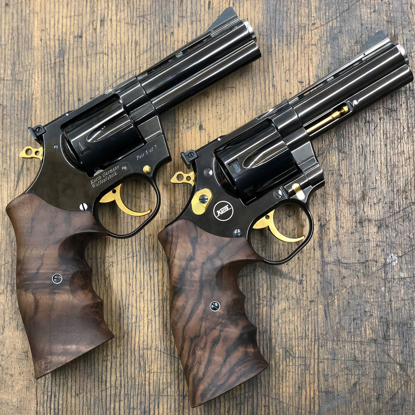 KORTH - $3,500 starting price  Note the bottom revolver is a true