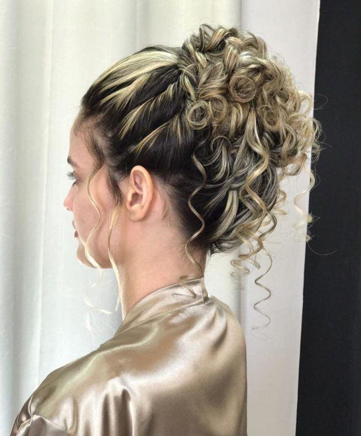 Pin em penteados casual