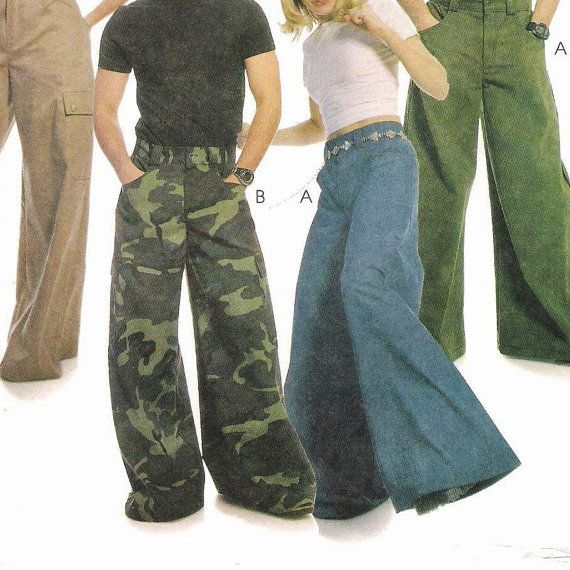 McCalls 2360 Mens and Womens Wide Leg Pants Pattern | Miss you, I ...