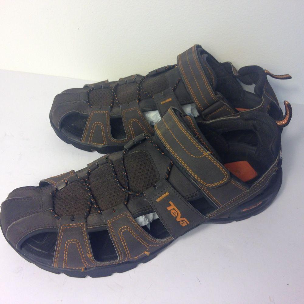 b38c14b49f64 Men s Teva Brown Forebay Sport Sandal Shoes ShocPad Size 12 M  Teva   SportSandals