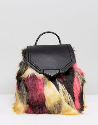 b619322b87 ALDO Gazzone Faux Fur Backpack