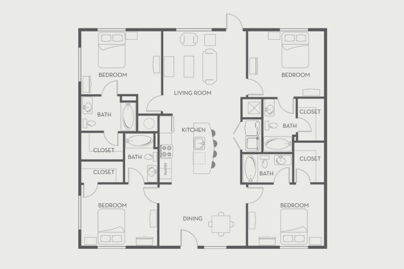 Amazing 4 Bedroom Flat At The Woods Of San Marcos · Floor Plans