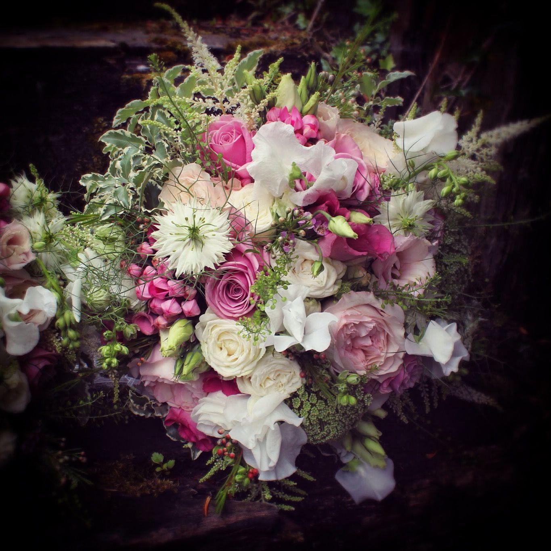 Flowers by shirley garden rose bouquets - Summer Pink Bouquet Kiera David Austin Roses Keano Rose Sweet Pea Bombastic