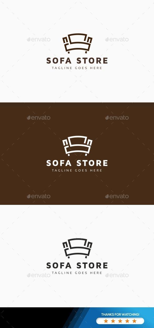 Sofa Store Logo Template Vector EPS, AI Illustrator ...