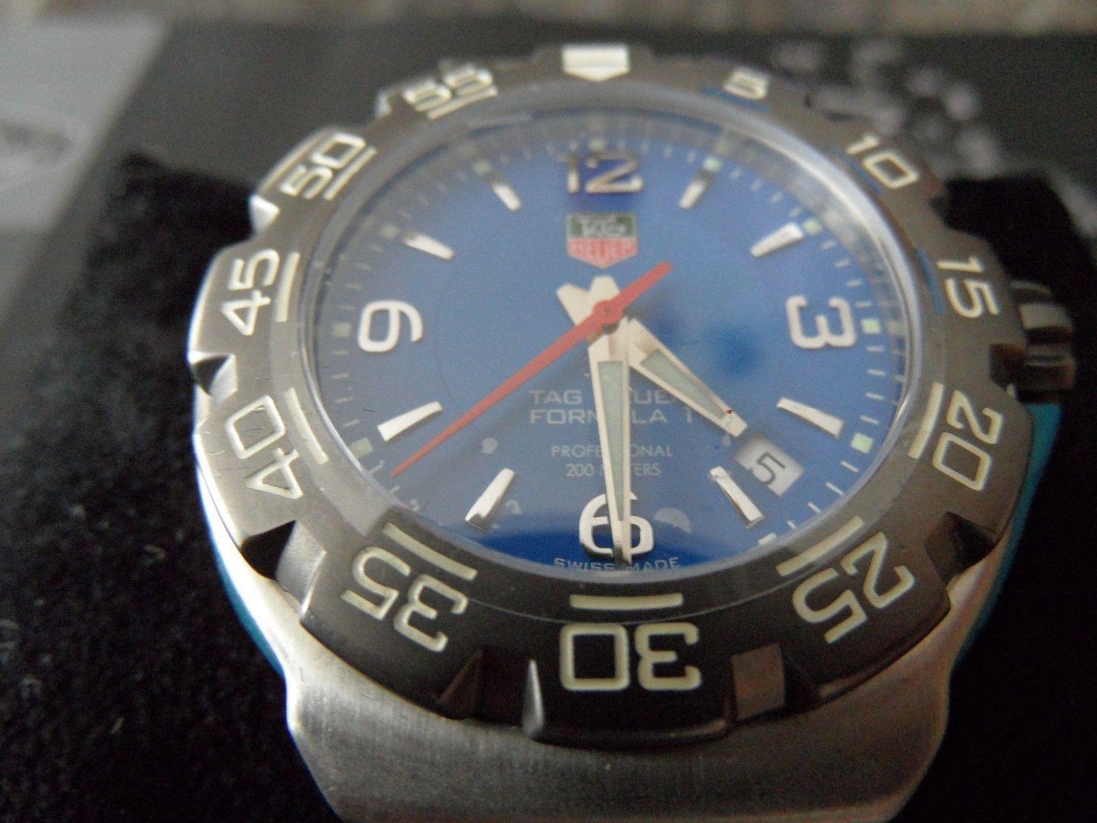 Tag Heuer Formula 1 Wac1112 Ba0850 Tag Heuer F1 Blue Face