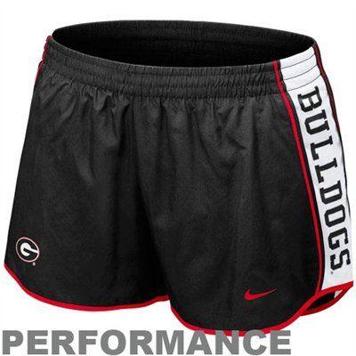 aa199fd859b7 Nike Georgia Bulldogs Ladies Black Pacer Performance Shorts | GO ...