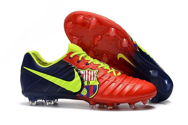 Botas De Futbol Nike Tiempo Legend VII Barcelona FG Rojo Amarillo Azul  Online 6450006975fb6