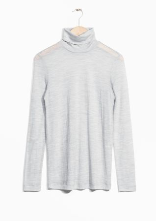 & Other Stories image 1 of Thin Turtleneck in Grey