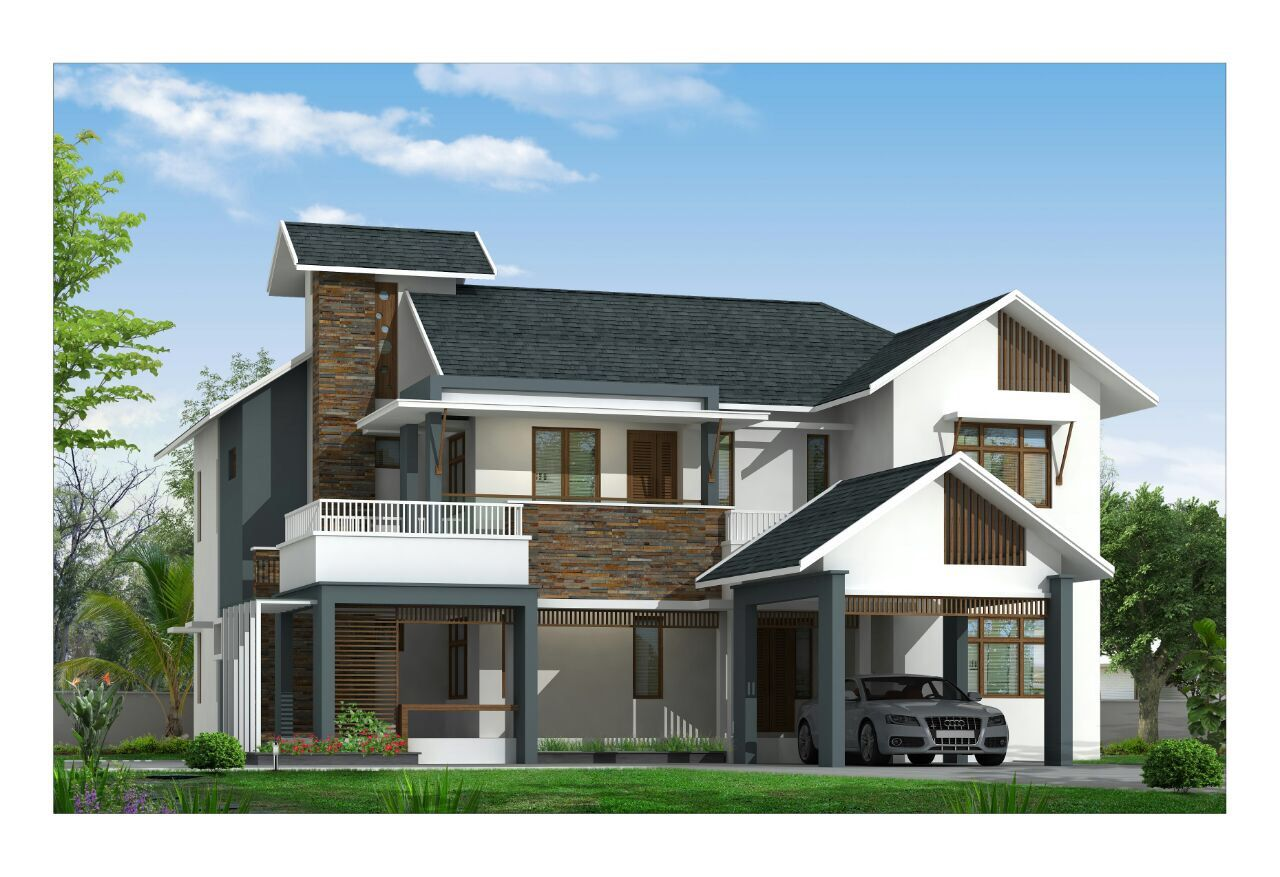 Kerala modern house trendy tree home haus homes houses also best images rh pinterest