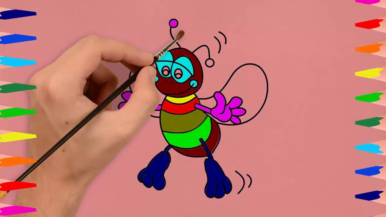 Ant Coloring Pages How To Draw An Ant Cartoon World Tv Cartoon World Coloring Pages World Tv