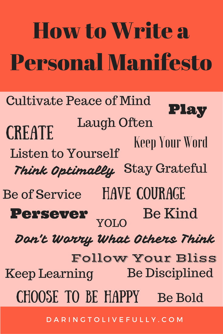 How to Write a Personal Manifesto   Success   Personal ...