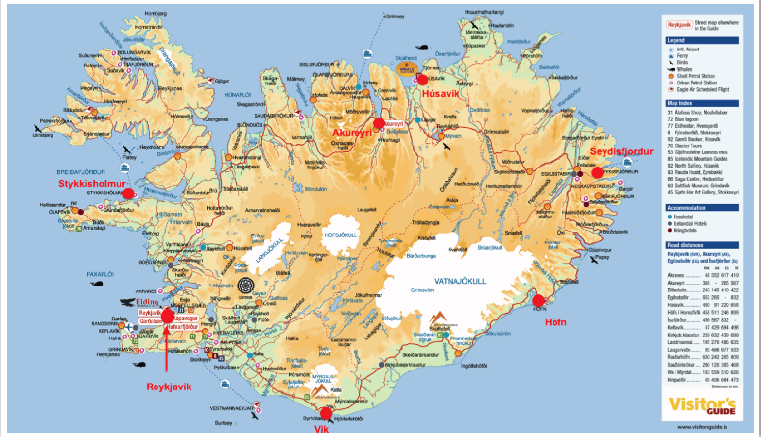 graphic relating to Printable Map of Iceland referred to as reykjavik map - Google Glimpse ICELAND Vacationer map