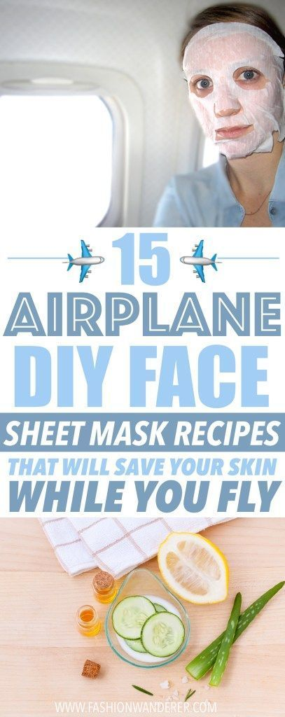 Airplane DIY face sheet mask recipes are the BEST Im happy I found these homemade face masks that help my dryness and acne disappear These recipes are easy to make and al...