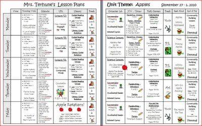lesson plan template first grade lesson plans pinterest