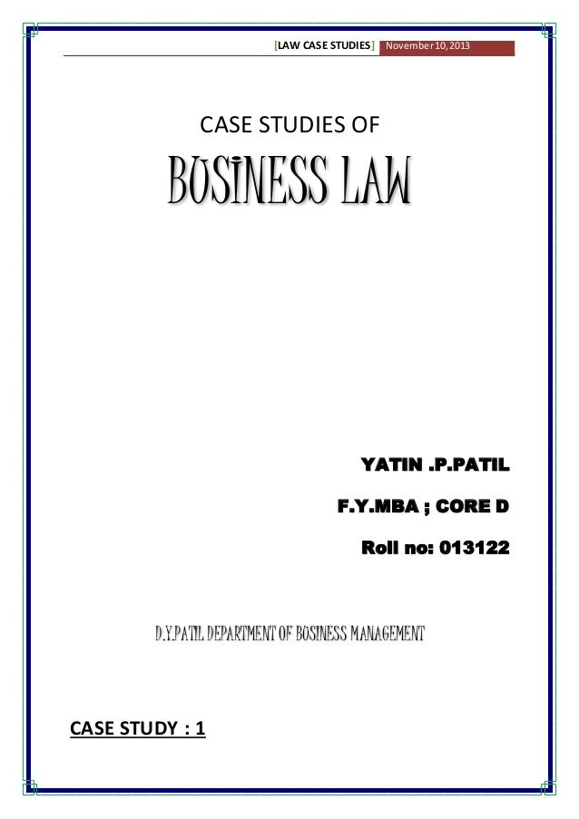 Business Law Case Studies With Solution With Images Business