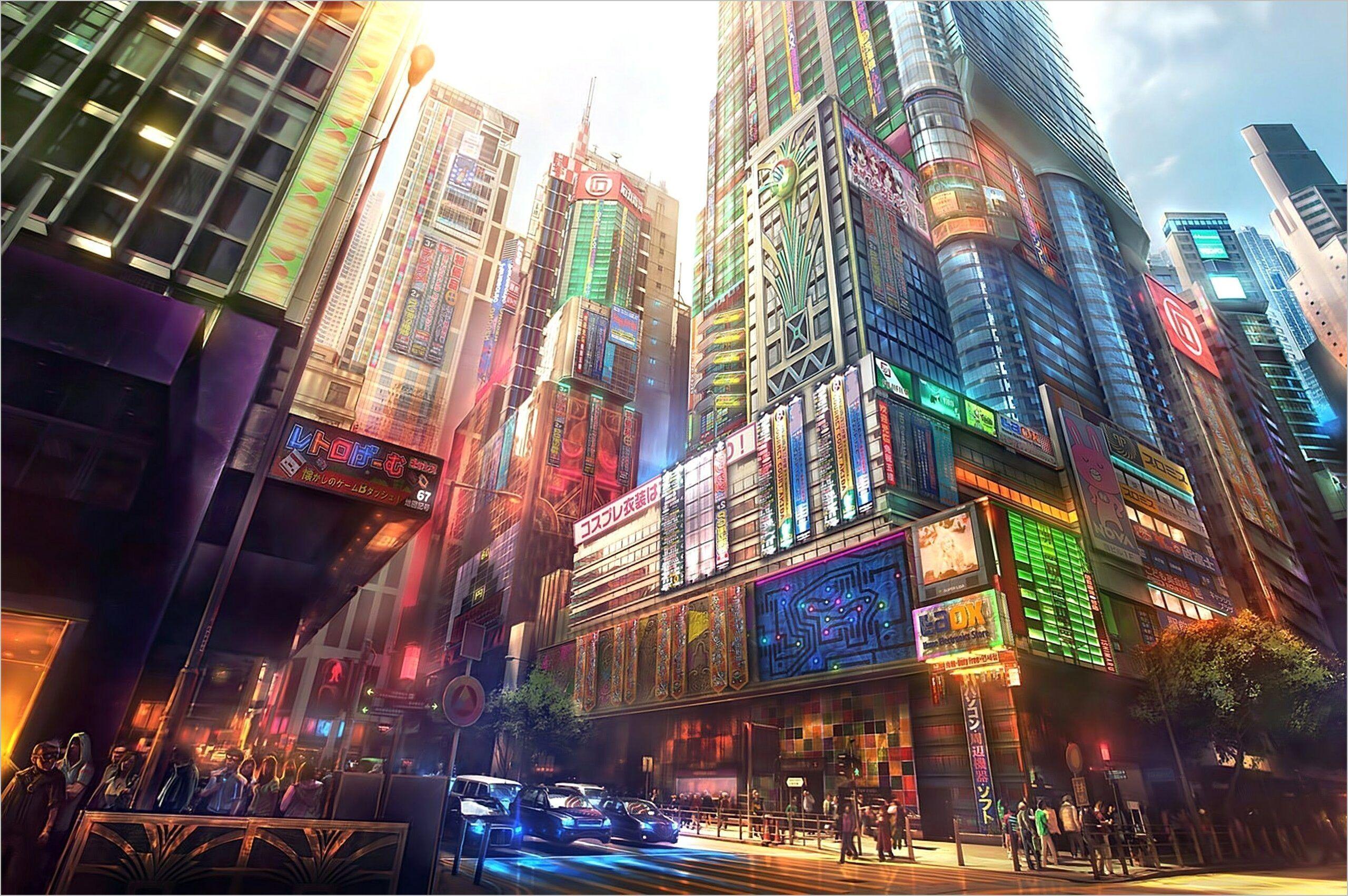 Japan 4k Wallpaper Reddit Anime City Anime Scenery Wallpaper City Wallpaper