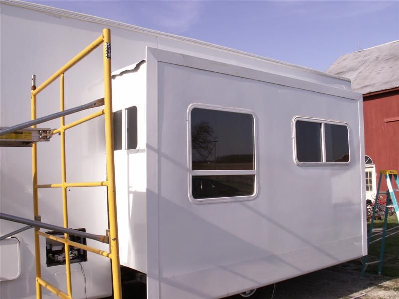 Slide Out With Windows And Corner Moulding Homemade Rv