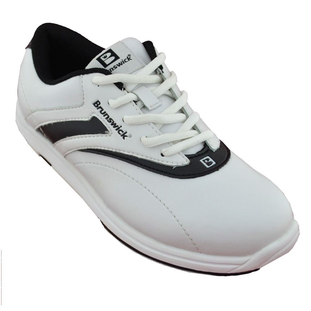 Brunswick silk whiteblack bowling shoes with images