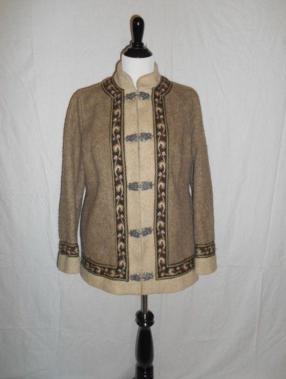 Vintage FJORD Wool Jacket coat Norway Norwegian Fair Isle winter ...