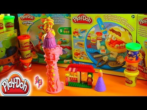 Play Doh Play Dough Princess Rapunzel Tower Massinha Plastilina 반죽을 재생 - YouTube
