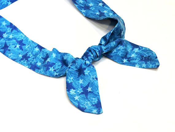 Blue Star Neck Cooler Gel Cooling Scarf Stay Cool Tie Body Cooling Scarf Neck Coolers Cool Ties