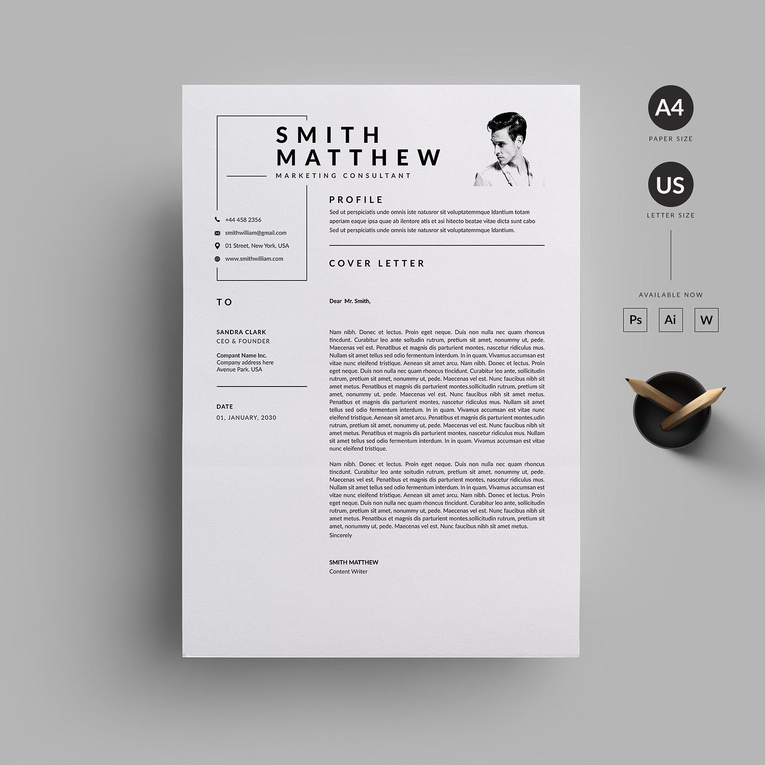 Resume/CV #Inch#Paper#Size#Bleed