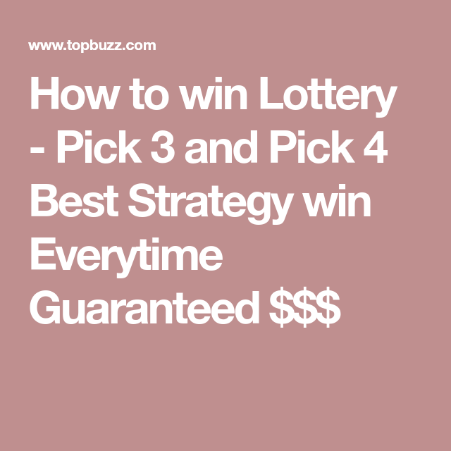 How to win Lottery - Pick 3 and Pick 4 Best Strategy win