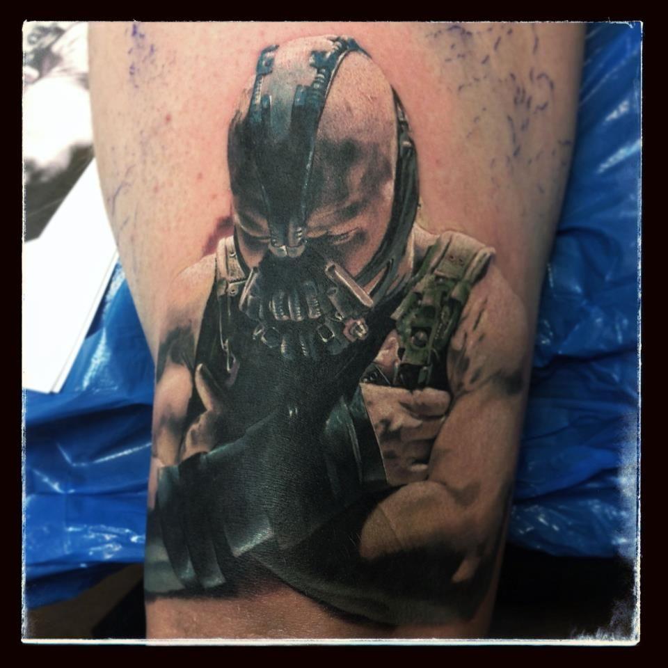 Flaming art tattoo for geek tattoo lovers this kind of batman - Bane Tattoo Moon Tattoosart Tattoospiercingshelsingborgtattoo Ideas Batmangeekpaintillustrations