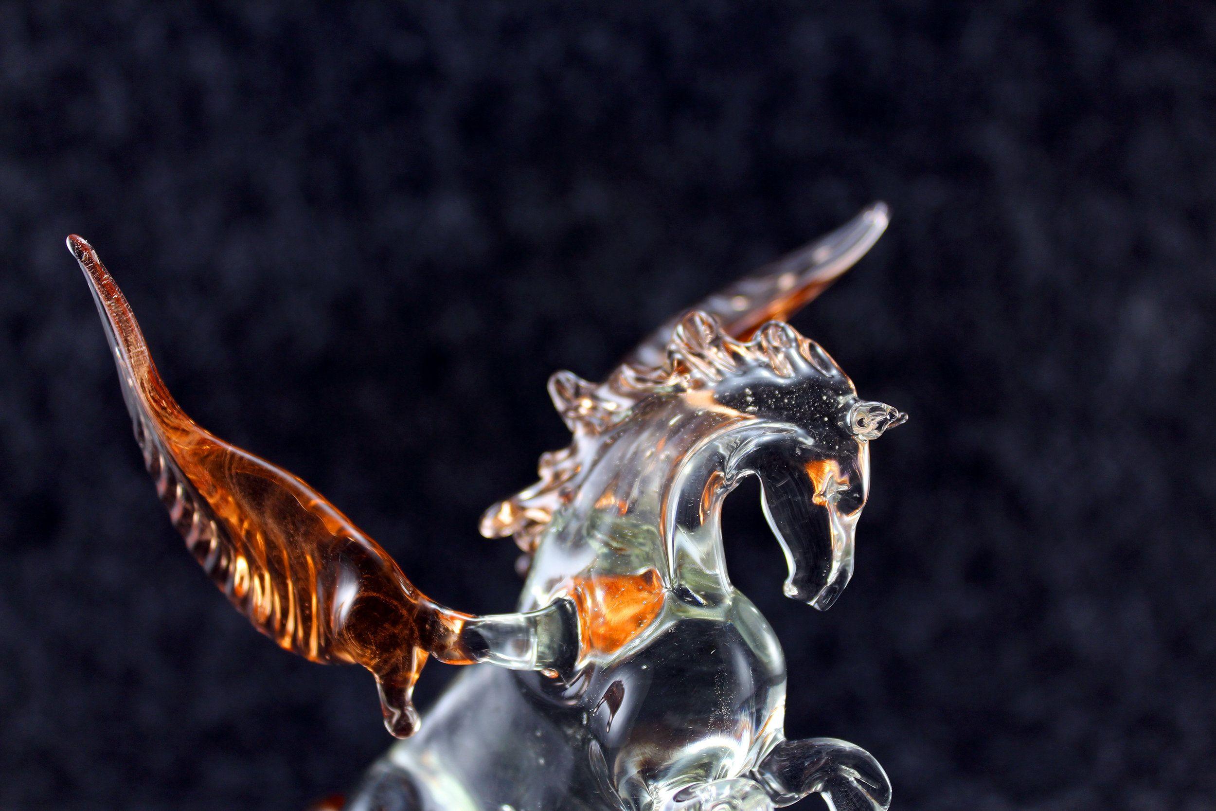 Glass Pegasus Figurine Glass Figurine Horse Figurine Etsy Glass Figurines Horse Figurine Glass Animals