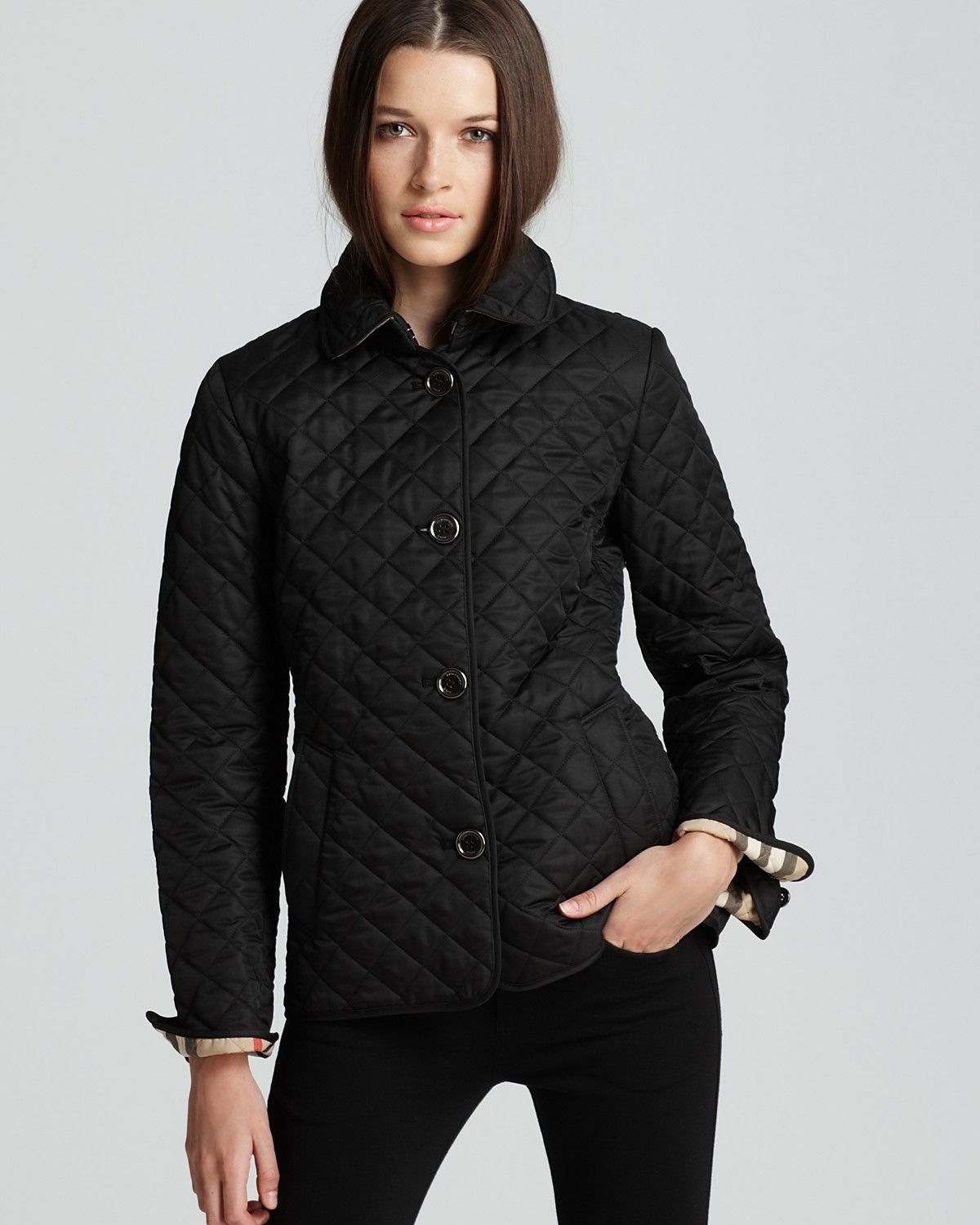 Burberry Brit Fitted Quilted Copford Jacket Bloomingdale S Womens Quilted Jacket Burberry Jacket Quilted Jacket