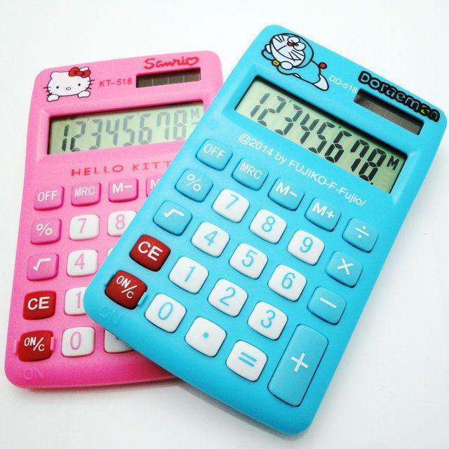 Cartoon Mini Desktop Calculator Hello Kitty & Doraemon