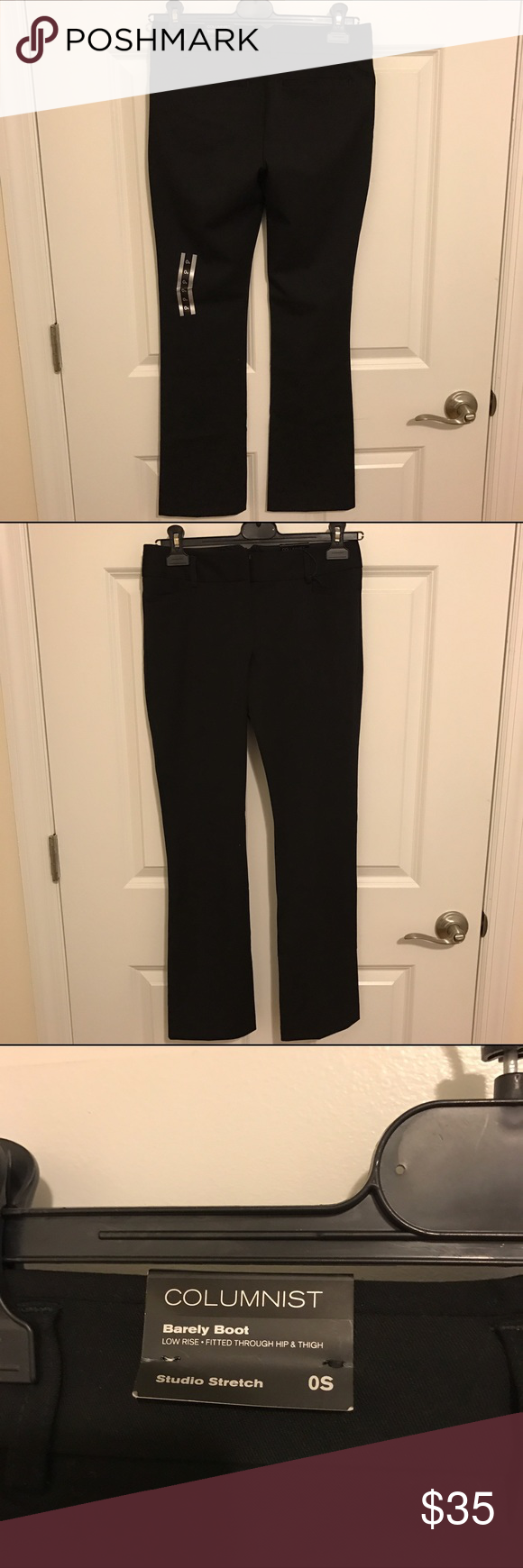 Express Columnist Barely Boot Pants - Low Rise Brand New working pants. Shape and cut are perfect. Selling it because I have too many black color pants. Express Pants Boot Cut & Flare