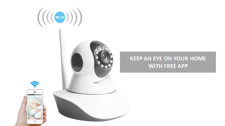 ANBOSON 1 3MP 360-degree wireless home security camera is