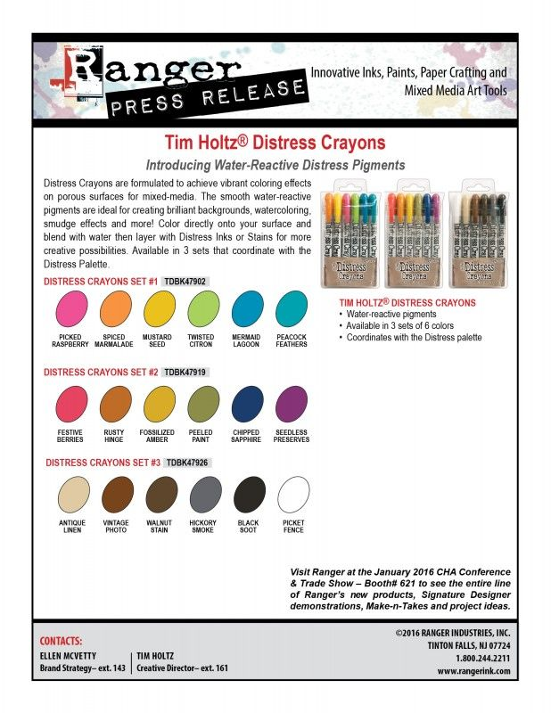 Distress Crayons 2016 PR