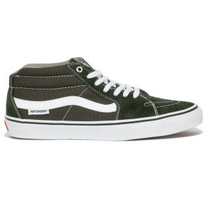 Vans x Anti Hero Grosso Sk8 Mid Pro Shoes Green   Shoes