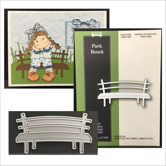 park bench metal craft die 1395 by inspirationstationmi on etsy