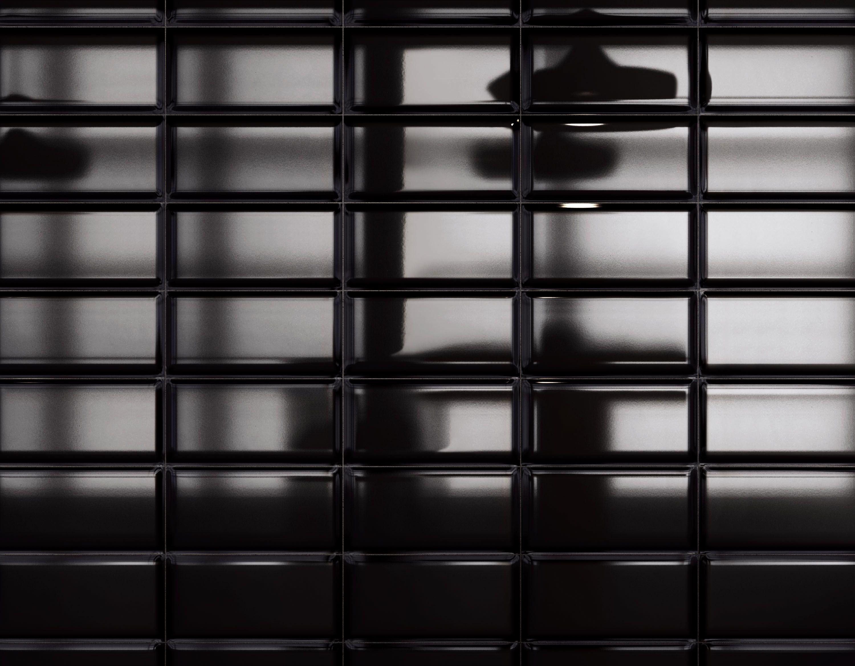Carrelage mural noir style métro salle de bain et cuisine 12,5x25 ...