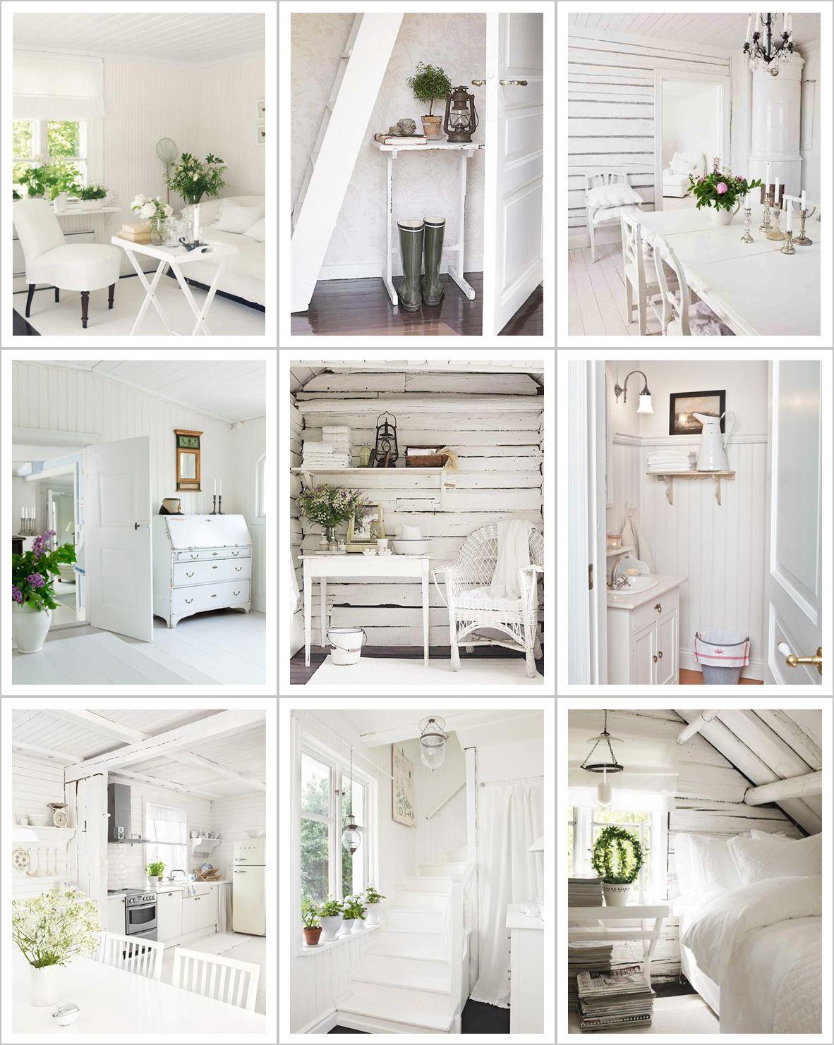 White now....Shabby Chic Interiors Una casa bianca