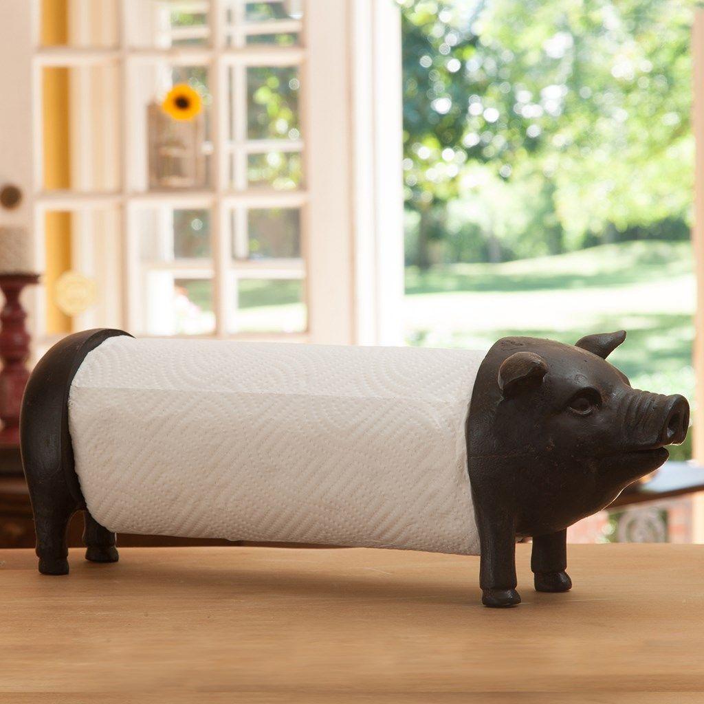 pig paper towel holder collections farmhouse cracker barrel