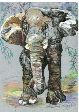 painting of elephant