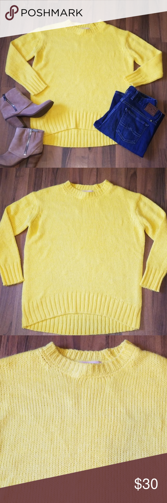 Philosophy Bright Yellow Sweater Yellow Sweater Sweaters Clothes Design