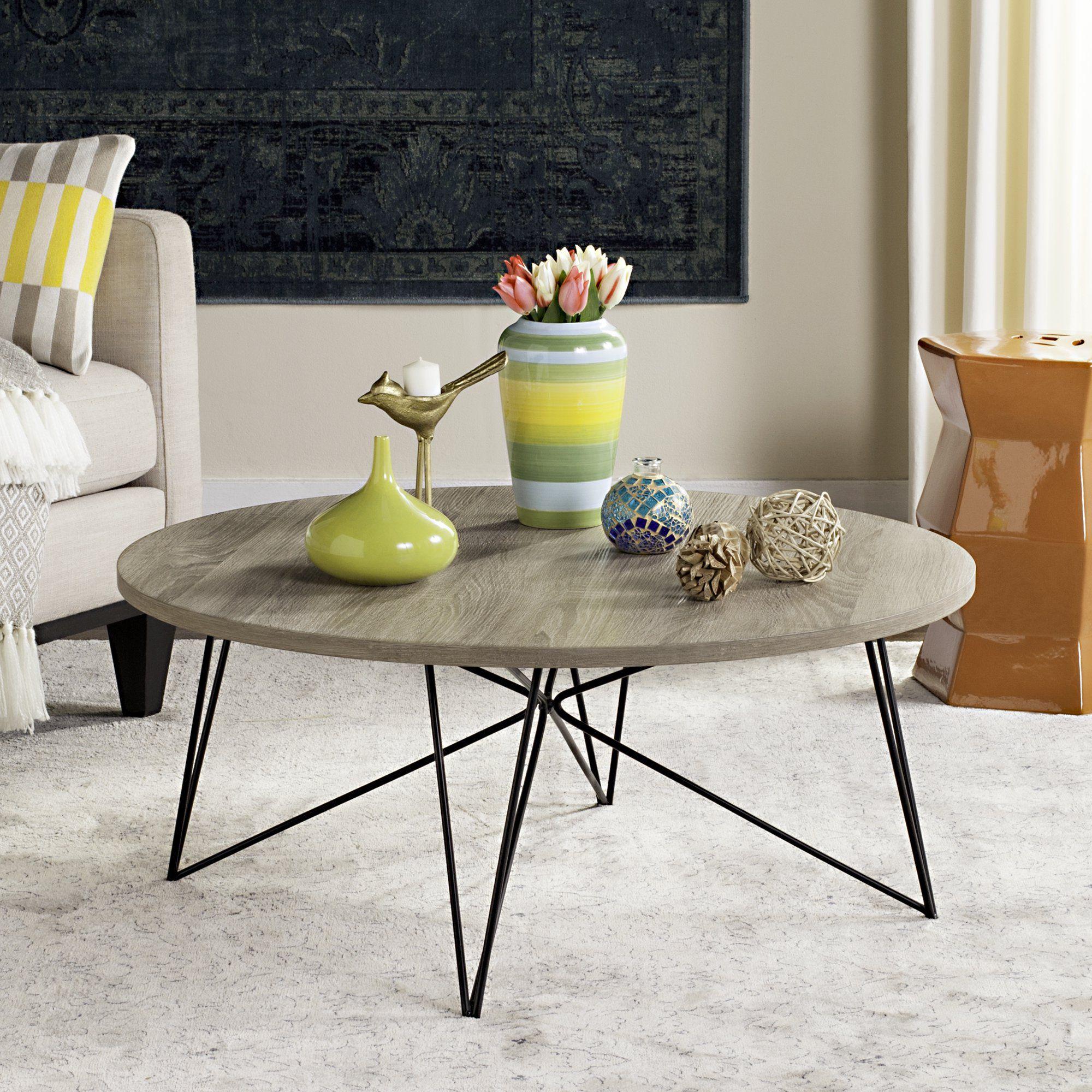 Safavieh Maris Retro Mid Century Round Coffee Table Walmart Com Mid Century Coffee Table Coffee Table Coffee Table Wood [ 2000 x 2000 Pixel ]
