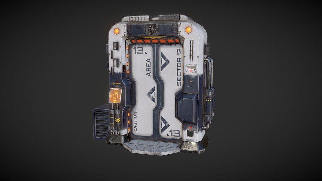 Sci Fi Door By Geoffreycouppey Sci Fi 3d Model Sci