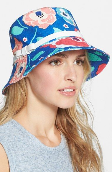6d885b2f883 kate spade new york twill bucket hat. Love this hat for the beach ...