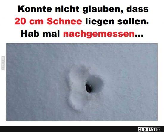 Konnte nicht glauben, dass 20 cm Schnee liegen sollen.. | Lustige Bilder, Sprüche, Witze, echt lustig