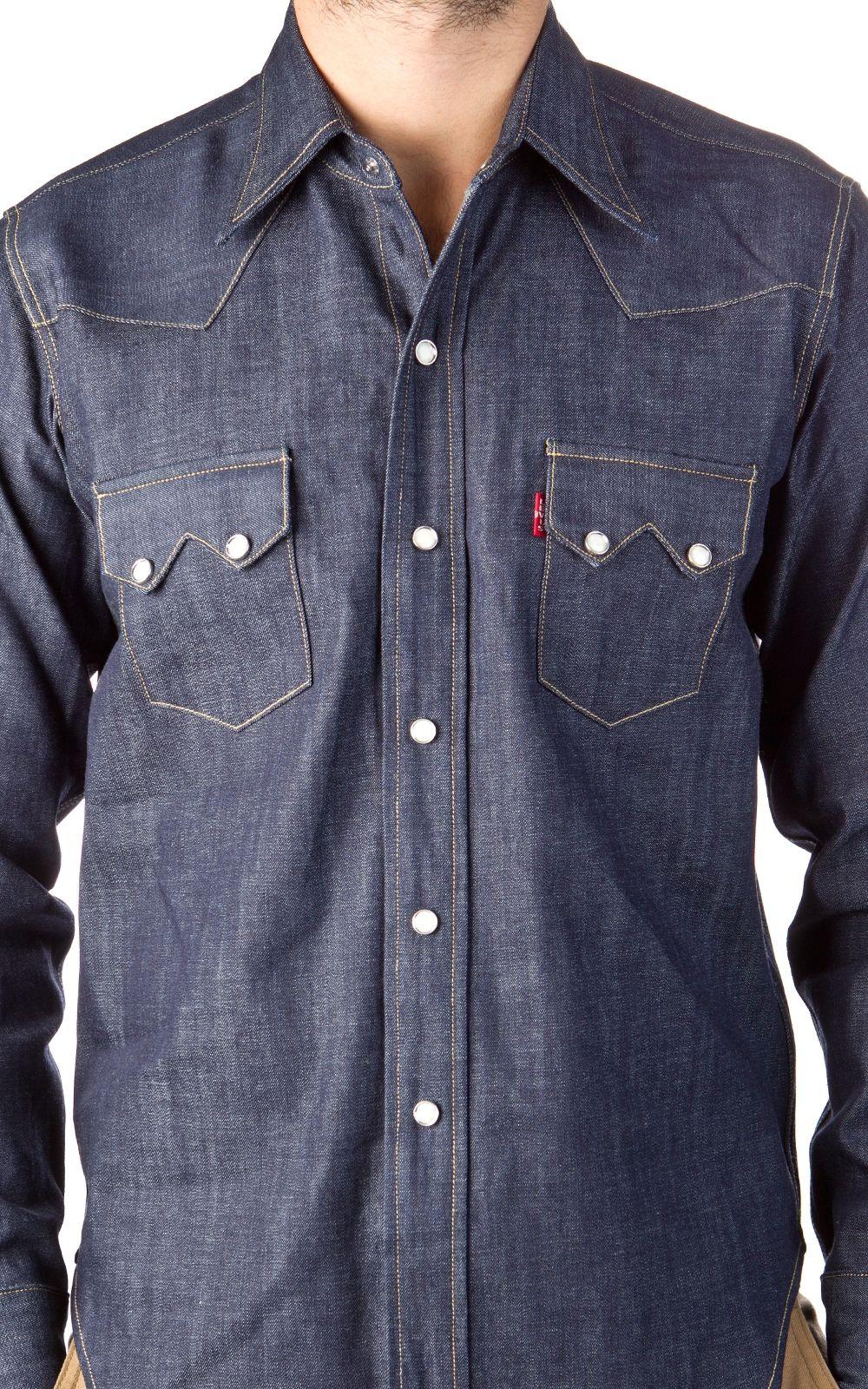 3738778a7c Levi s® Vintage Clothing 1955 Sawtooth Denim Shirt Rigid