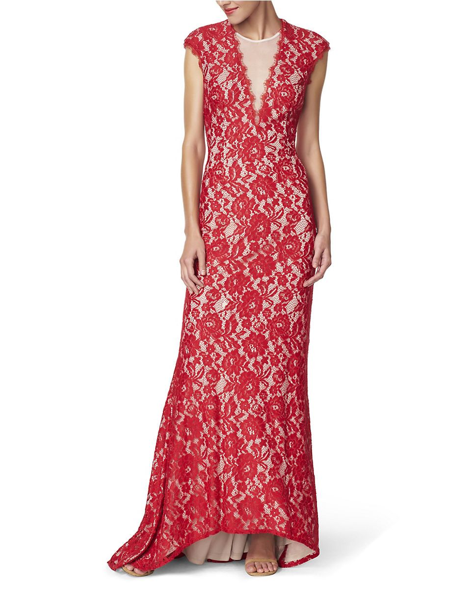Aidan mattox red and black lace dress wedding dress pinterest